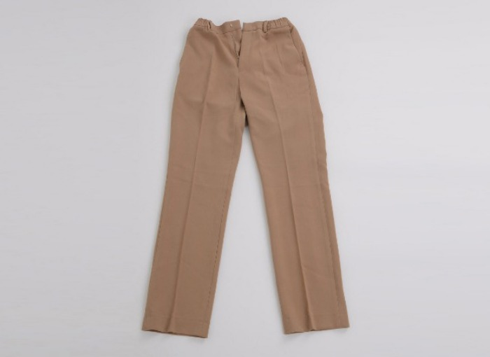 half banding semi wide slacks