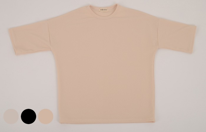embossing sleeve tshirt